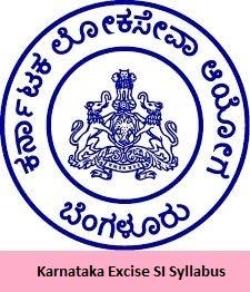 Karnataka Excise SI Syllabus