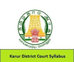 Karur District Court Syllabus