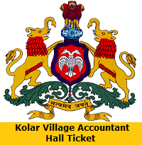 Kolar Village Accountant Hall Ticket