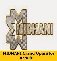 MIDHANI Crane Operator Result