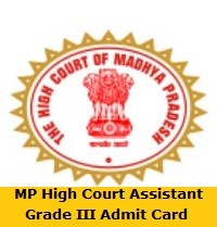 MP High Court Assistant Grade III Admit Card