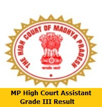 MP High Court Assistant Grade III Result