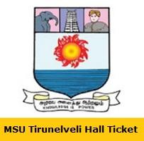 MSU Tirunelveli Hall Ticket