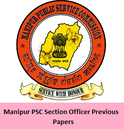 Manipur PSC Section Officer Previous Papers