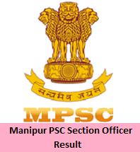 Manipur PSC Section Officer Result