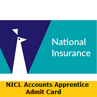 NICL Accounts Apprentice Admit Card