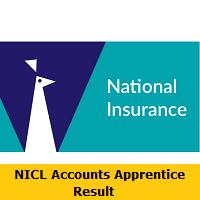 NICL Accounts Apprentice Result