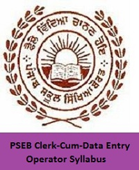 PSEB Clerk-Cum-Data Entry Operator Syllabus