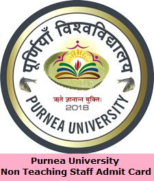 Purnea University Non Teaching Staff Admit Card