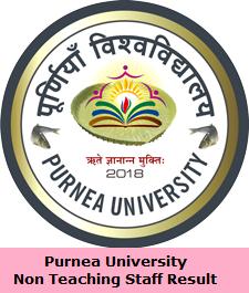 Purnea University Non Teaching Staff Result