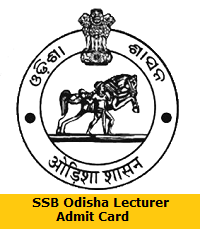 SSB Odisha Lecturer Admit Card