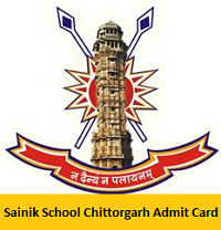Sainik School Chittorgarh Admit Card