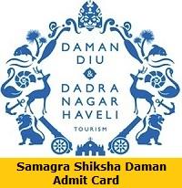 Samagra Shiksha Daman Admit Card