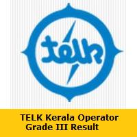 TELK Kerala Operator Grade III Result