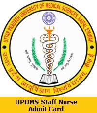 UPUMS Staff Nurse Admit Card