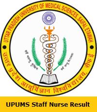UPUMS Staff Nurse Result