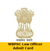 WBPSC Law Officer Admit Card