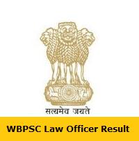 WBPSC Law Officer Result