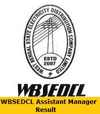 WBSEDCL Assistant Manager Result