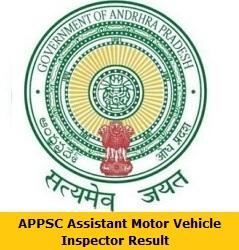 APPSC Assistant Motor Vehicle Inspector Result