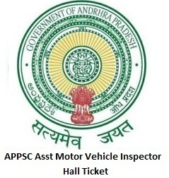 APPSC Asst Motor Vehicle Inspector Hall Ticket