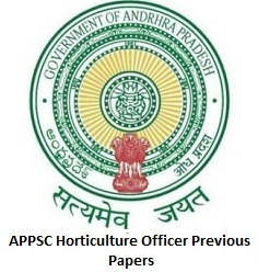 APPSC Horticulture Officer Previous Papers