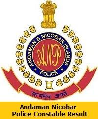 Andaman Nicobar Police Constable Result