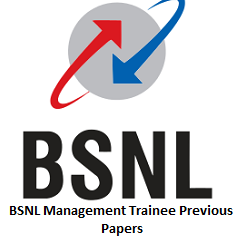 BSNL Management Trainee Previous Papers