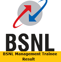 BSNL Management Trainee Result