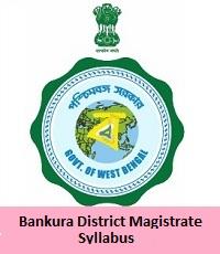Bankura District Magistrate Syllabus