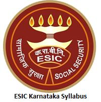ESIC Karnataka Syllabus