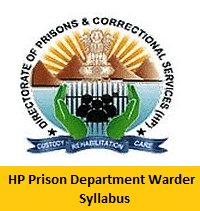HP Prison Department Warder Syllabus