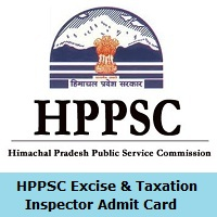 HPPSC Excise & Taxation Inspector Admit Card