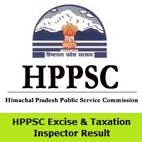 HPPSC Excise & Taxation Inspector Result