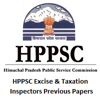HPPSC Excise & Taxation Inspectors Previous Papers