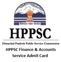 HPPSC Finance & Accounts Service Admit Card