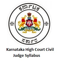 Karnataka High Court Civil Judge Syllabus