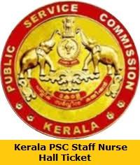 Kerala PSC Staff Nurse Hall Ticket