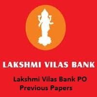 Lakshmi Vilas Bank PO Previous Papers