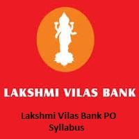 Lakshmi Vilas Bank PO Syllabus