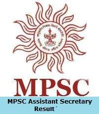 MPSC Assistant Secretary Result