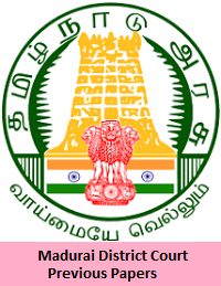 Madurai District Court Previous Papers