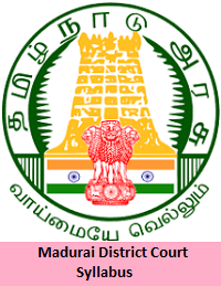 Madurai District Court Syllabus