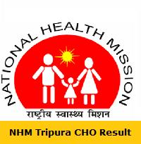 NHM Tripura CHO Result
