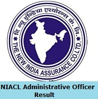NIACL Administrative Officer Result