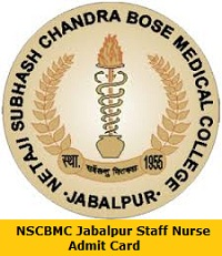 NSCBMC Jabalpur Staff Nurse Admit Card