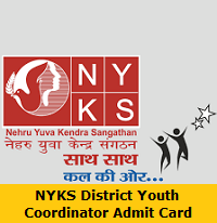 NYKS District Youth Coordinator Admit Card