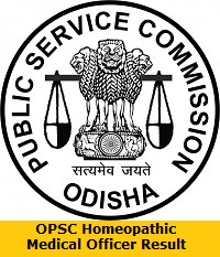 OPSC Homeopathic Medical Officer Result