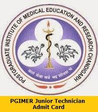 PGIMER Junior Technician Admit Card