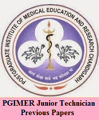 PGIMER Junior Technician Previous Papers